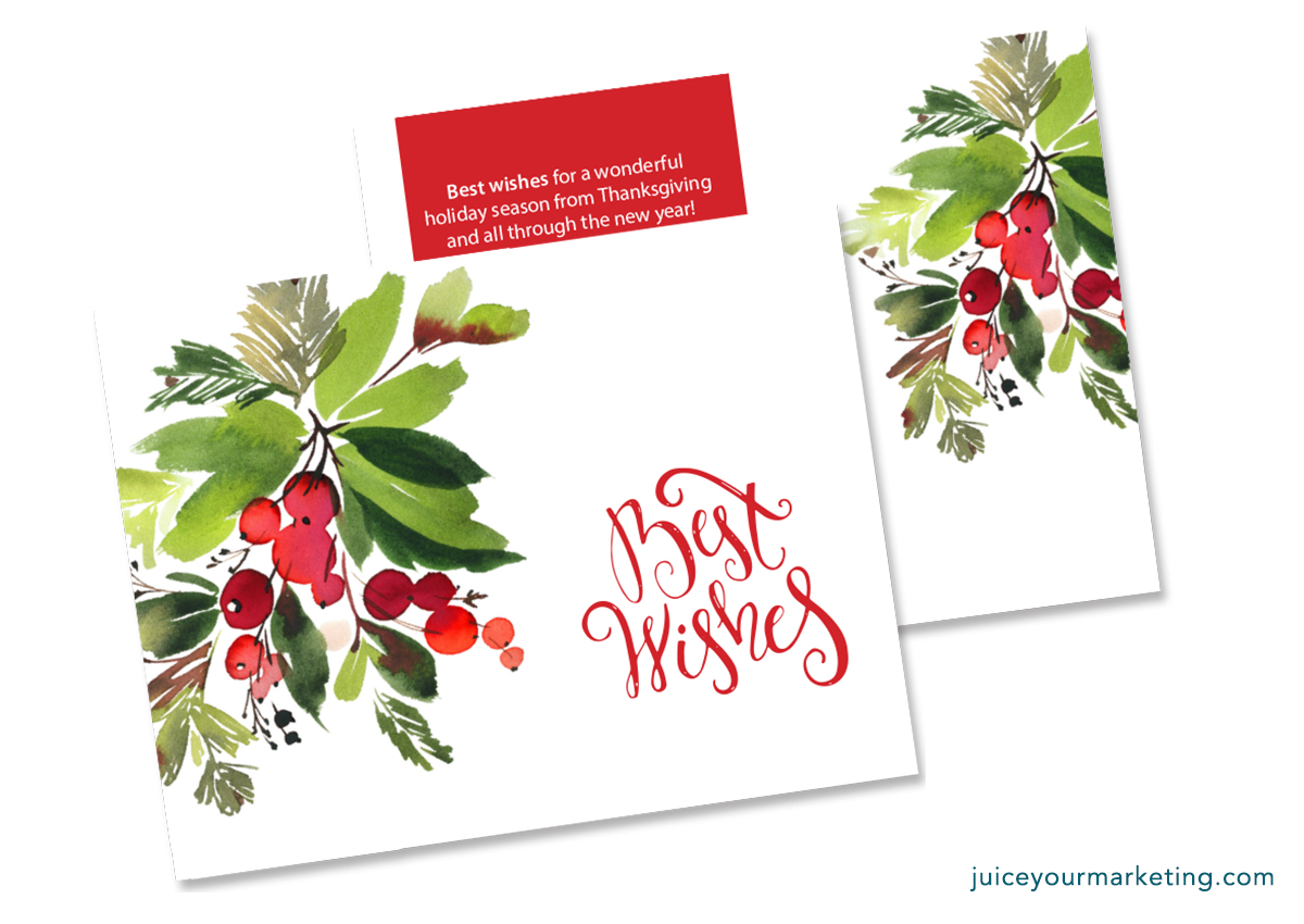 Holiday Season - Thanksgiving to New Year - Postcard