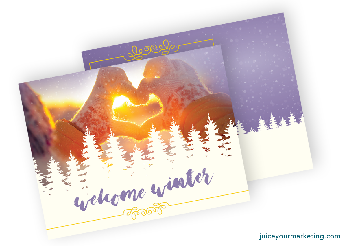 Welcome Winter - Gloves - Postcard