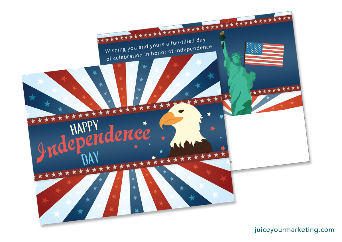 Independence Day - Eagle - Postcard