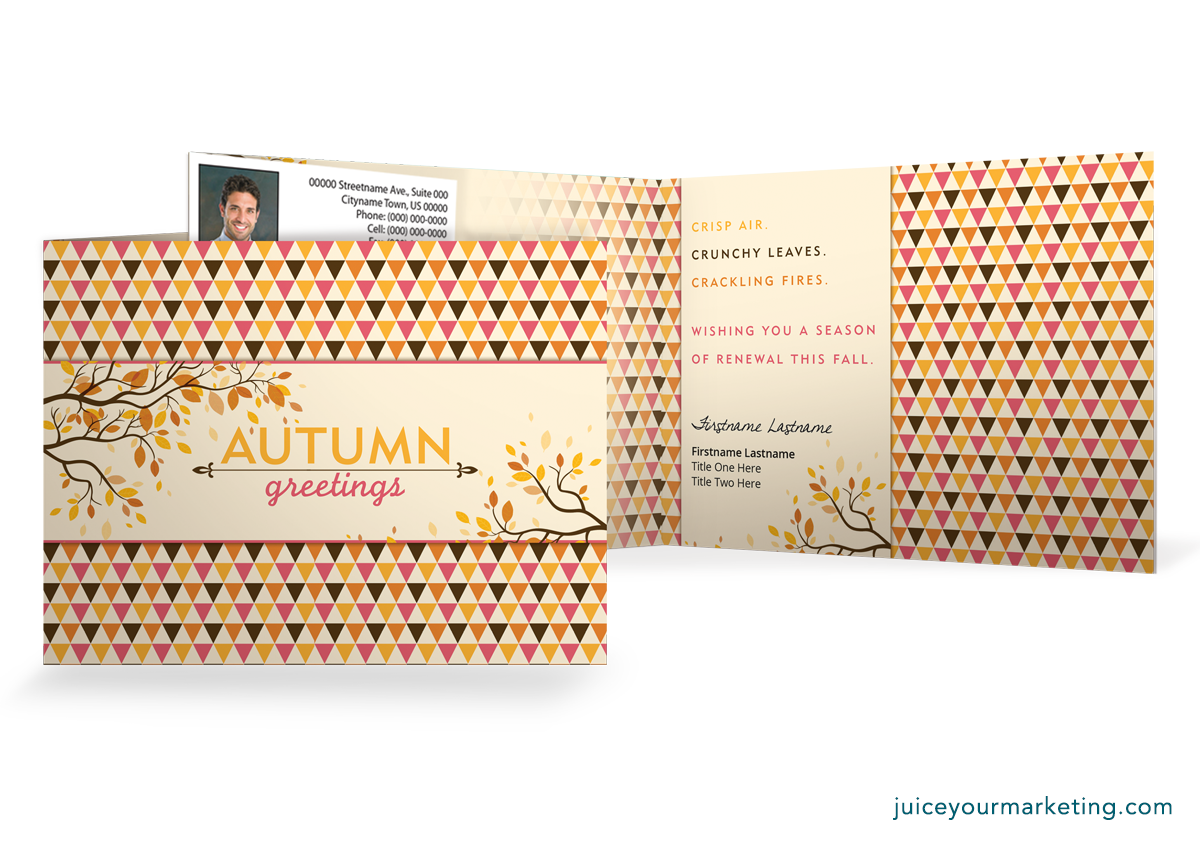 Autumn Greetings - Folded Card